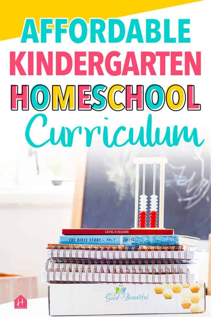 Affordable Kindergarten Homeschool Curriculum 2020